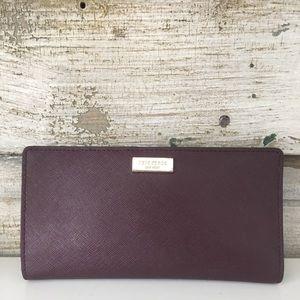 KATE SPADE deep purple wallet